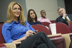 Bedrijfscollega's in een Seminarie royalty-vrije stock foto