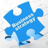 Bedrijfsconcept: Bedrijfsstrategie op raadselachtergrond Stock Fotografie