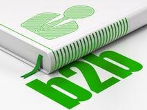 Bedrijfsconcept: boek Bedrijfsmens, B2b op witte achtergrond Stock Afbeeldingen