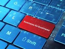 Bedrijfsconcept: Business-to-business op de achtergrond van het computertoetsenbord Stock Foto