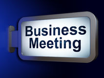 Bedrijfsconcept: Commerciële Vergadering over aanplakbordachtergrond Stock Fotografie