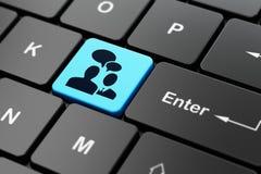 Bedrijfsconcept: Commerciële Vergadering over de achtergrond van het computertoetsenbord Stock Fotografie