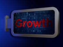Bedrijfsconcept: De groei op aanplakbordachtergrond stock illustratie