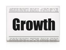 Bedrijfsconcept: de Groei van de krantenkrantekop Royalty-vrije Stock Afbeelding