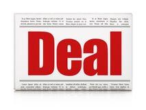 Bedrijfsconcept: de Overeenkomst van de krantenkrantekop Stock Fotografie