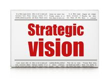 Bedrijfsconcept: de Strategische Visie van de krantenkrantekop Royalty-vrije Stock Fotografie