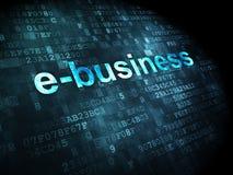 Bedrijfsconcept: E-business op digitale achtergrond Stock Afbeelding