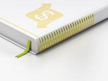 Bedrijfsconcept: gesloten boek, Financiën op witte achtergrond Royalty-vrije Stock Foto