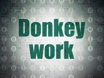 Bedrijfsconcept: Het ezelswerk aangaande Digitale Gegevensdocument achtergrond Royalty-vrije Stock Foto's