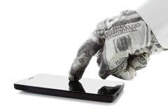 Bedrijfsconcept - het koopje, contract, koopt online Stock Afbeeldingen