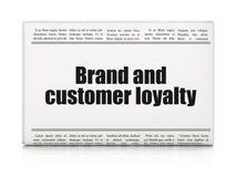 Bedrijfsconcept: het Merk van de krantenkrantekop en Klantenloyaliteit Royalty-vrije Stock Foto