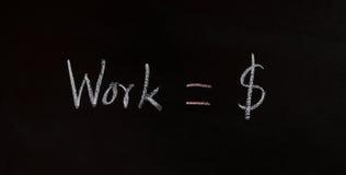 Bedrijfsconcept, het werk voor geld Stock Foto