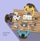 Bedrijfsconcept - het werkconcept - vlak ontwerp Royalty-vrije Stock Foto's