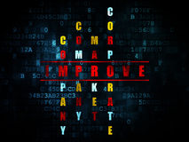 Bedrijfsconcept: het woord verbetert in het oplossen Stock Foto's