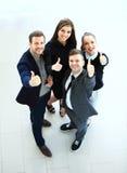 Bedrijfsconcept - Hoogste mening van succesvolle jonge bedrijfsmensen Stock Foto
