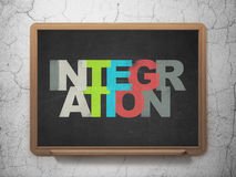 Bedrijfsconcept: Integratie op Schoolraad Stock Afbeelding