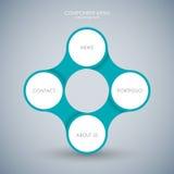 Bedrijfsconcept met 4 opties, delen, stappen of processen Royalty-vrije Stock Afbeeldingen