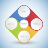 Bedrijfsconcept met 4 opties, delen, stappen of processen Royalty-vrije Stock Fotografie