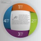 Bedrijfsconcept met 4 opties, delen, stappen of processen Malplaatje van het informatie het grafische ontwerp Stock Foto