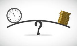 Bedrijfsconcept over tijd en geldlibra royalty-vrije illustratie