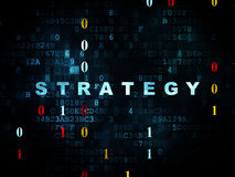 Bedrijfsconcept: Strategie op Digitale achtergrond Stock Afbeelding