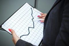 Bedrijfsconcept succes en de groei Een succesvolle vrouwenwerkgever, stock afbeelding