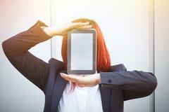 Bedrijfsconcept succes en onderhandeling Een vrouwenwerkgever, in a royalty-vrije stock fotografie