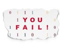 Bedrijfsconcept: U ontbreekt op Gescheurd Document Royalty-vrije Stock Foto