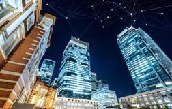 Bedrijfsconcept voor informatie, mededeling, verbindingstechnologie stock foto