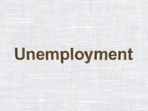 Bedrijfsconcept: Werkloosheid op stoffentextuur Stock Afbeelding