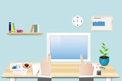 Bedrijfsconcepten vector klaar voor uw tekst vector illustratie