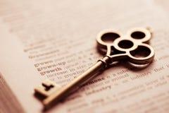 Bedrijfsconceptensleutel voor succes, strategie, team Stock Fotografie