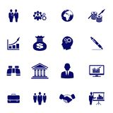 Bedrijfsdiepictogrammen op witte achtergrond worden geïsoleerd Vector beeld stock illustratie