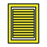 Bedrijfsdocumentblad geïsoleerd pictogram Stock Fotografie