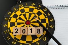 Bedrijfsdoelstellingen of doelconcept met selectieve nadruk op wo van 2018 Stock Fotografie