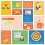 Bedrijfseconomie en het pictogramreeks van het bureauleven Royalty-vrije Stock Foto's
