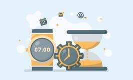 Bedrijfseconomie en van het Tijdbeheer Concept Vectorillustrat vector illustratie