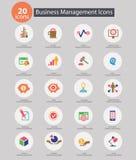 Bedrijfseconomiepictogrammen, Kleurrijke versie Stock Afbeeldingen