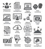 Bedrijfseconomiepictogrammen Pak 24 Stock Afbeelding