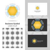 Bedrijfsembleem voor het bedrijf Vectorveelhoekelement voor het uitgeven Stock Afbeeldingen