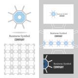 Bedrijfsembleem voor het bedrijf Vectorveelhoekelement voor het uitgeven Royalty-vrije Stock Afbeeldingen