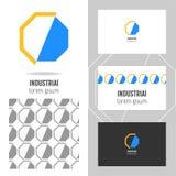 Bedrijfsembleem voor het bedrijf Vectorveelhoekelement voor het uitgeven Stock Foto's