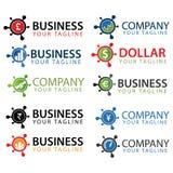 Bedrijfsemblemen en pictogrammeninzameling Stock Foto