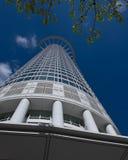 Bedrijfsgebouwen in het financiële district van Frankfurt Royalty-vrije Stock Foto's