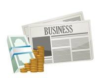 Bedrijfsgeldkansen op het document. royalty-vrije illustratie