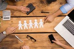 Bedrijfsgroepswerk Stock Foto's