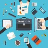 Bedrijfsgroepswerk Stock Foto