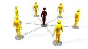 Bedrijfsgroepswerk en leidingsconcept vector illustratie