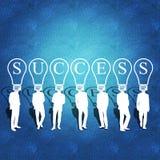 Bedrijfsgroepswerk en succes Stock Afbeeldingen