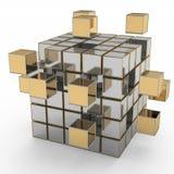 Bedrijfsgroepswerk, Internet en communicatie concept Stock Afbeelding